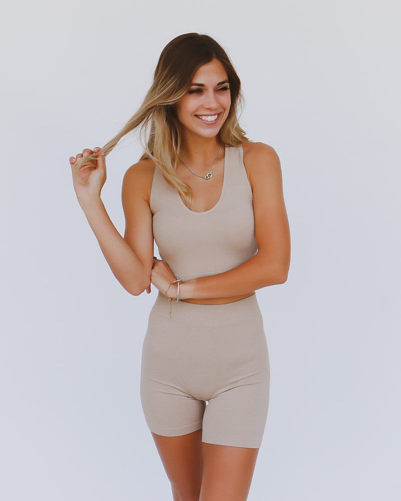 Nicole Biker Shorts in Sand