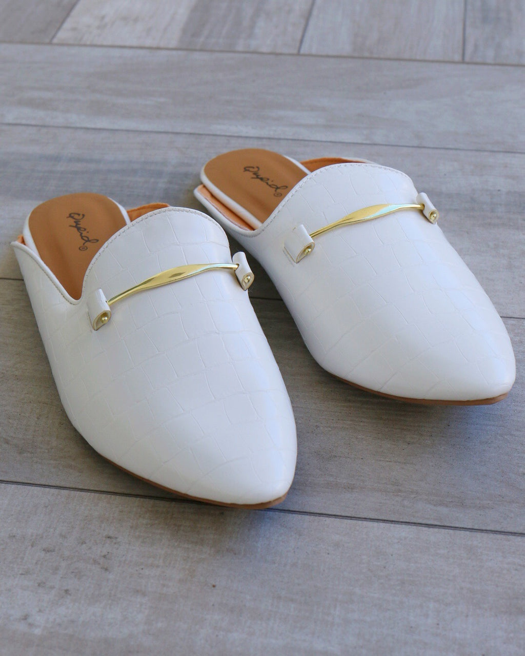 Riley Mules in White