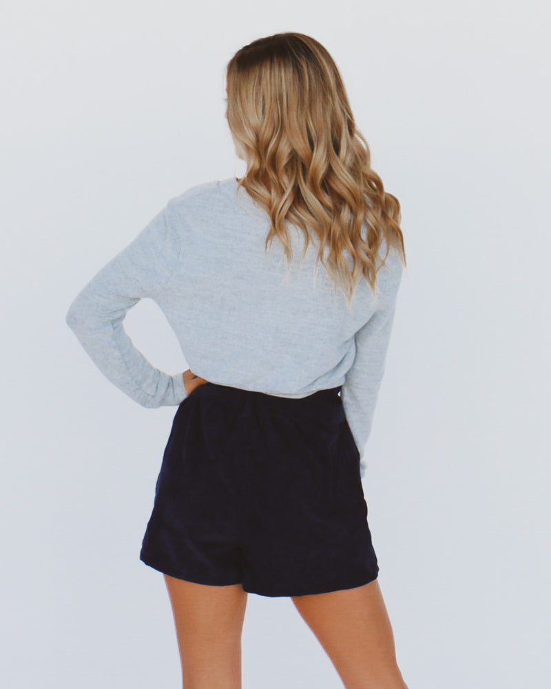 Fall Into Me Shorts in Navy