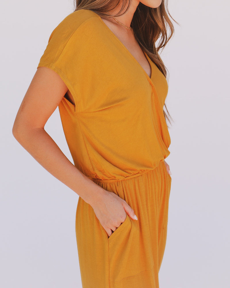 Alicia Jumpsuit in Mustard