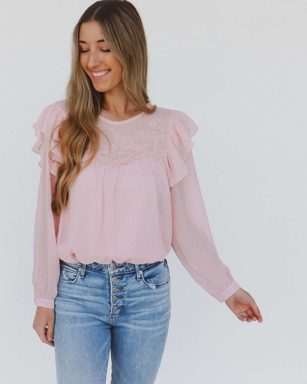 Cambridge Top in Pink