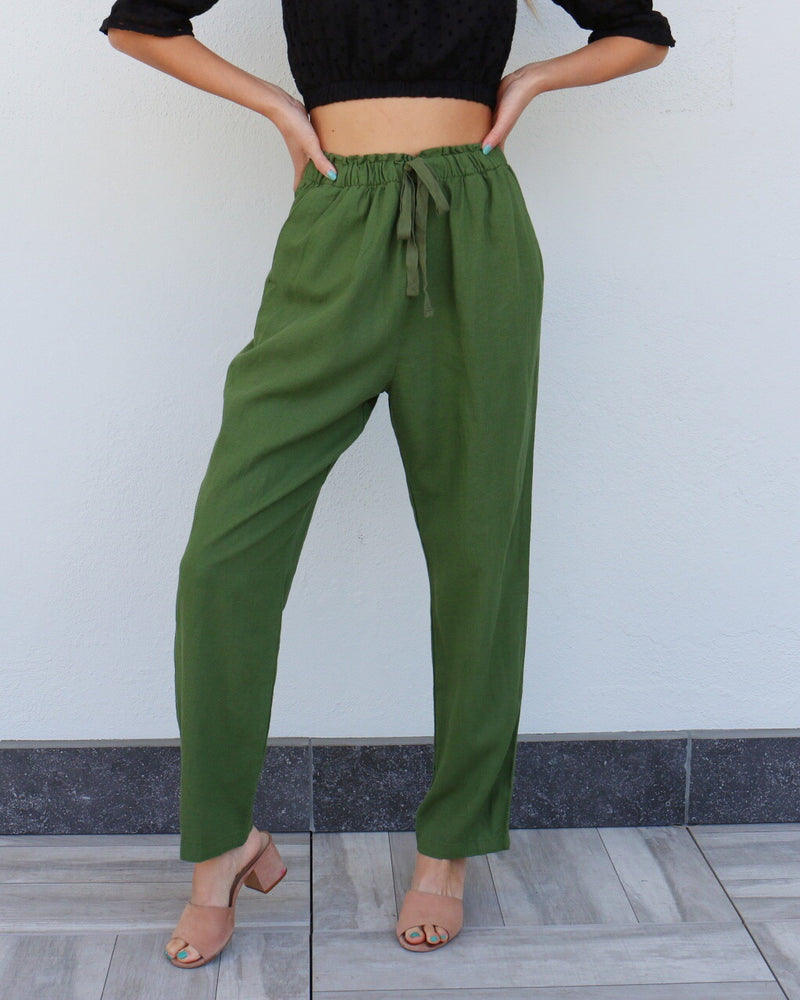 Hopland Pants in Olive