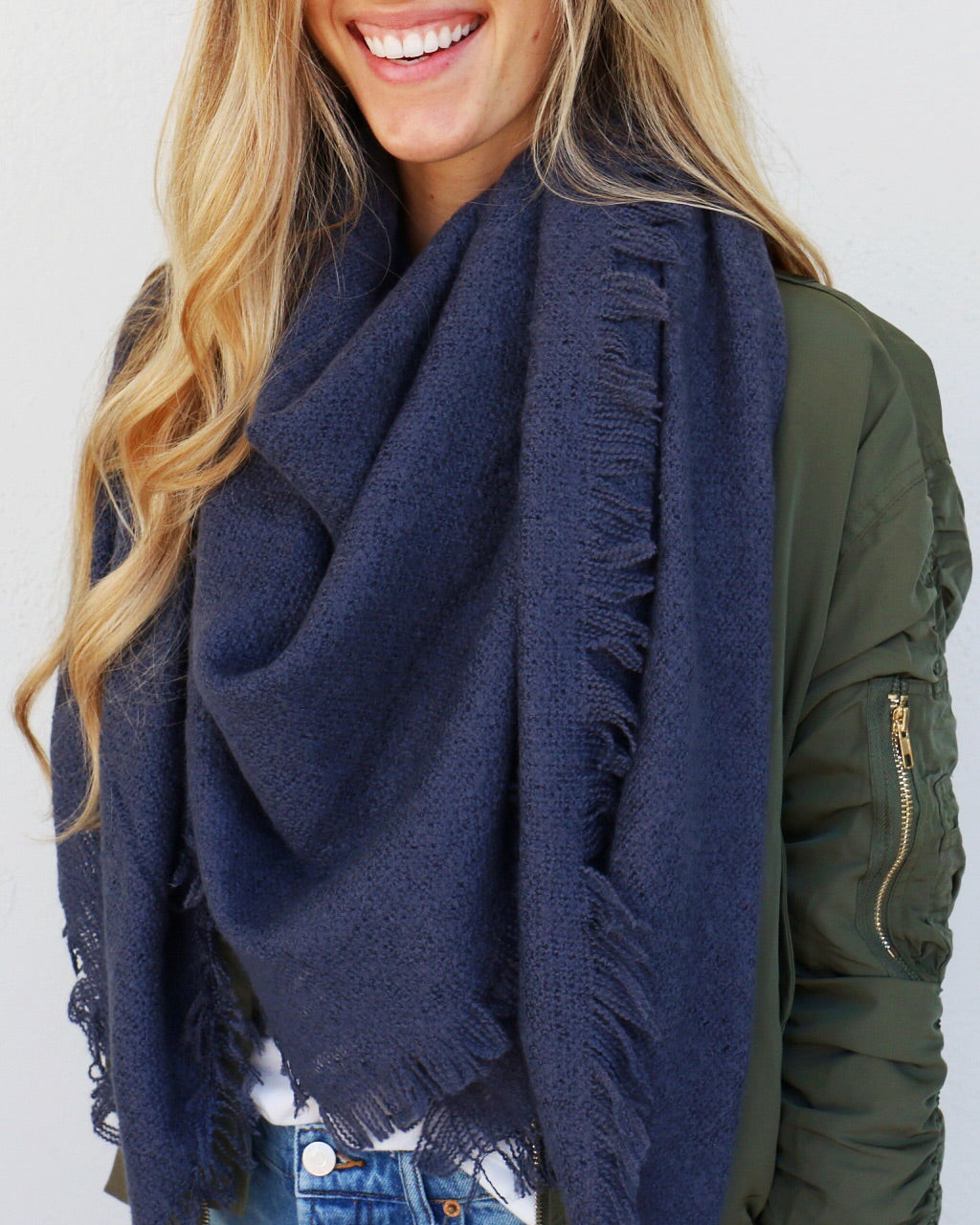 Fallbrook Scarf in Slate