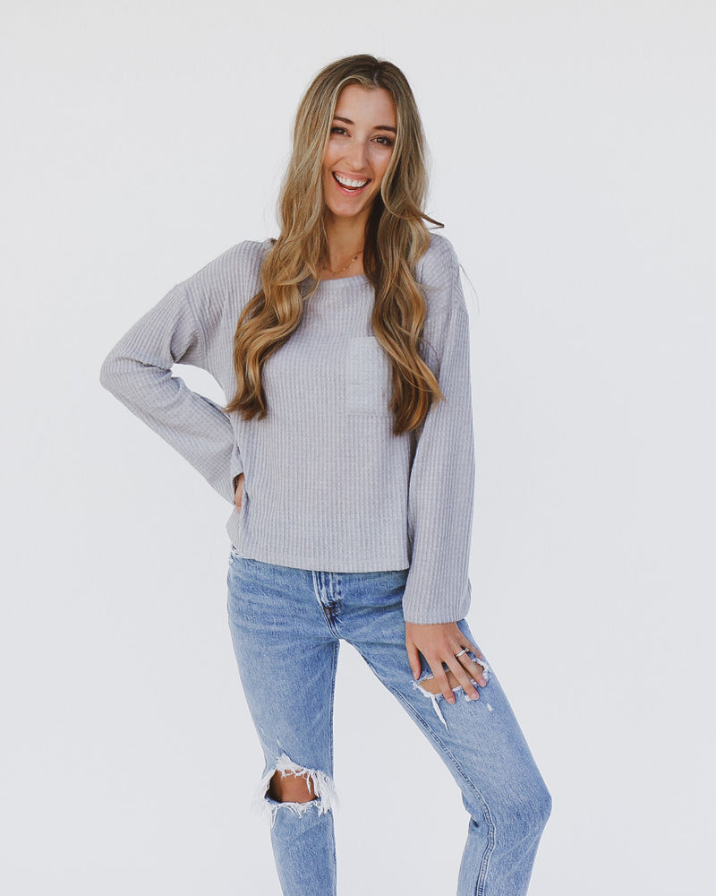 Kacey Top in Gray