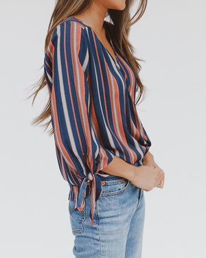 Blissful Top in Navy