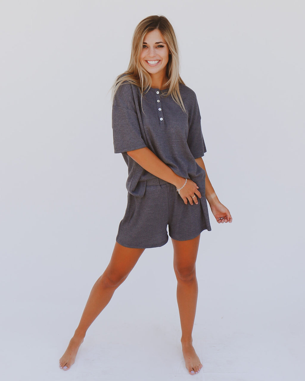 Maylee Shorts in Charcoal