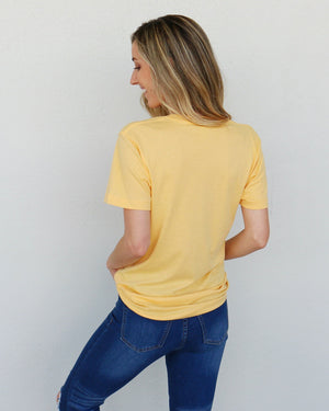 Worth It Tee in Yellow
