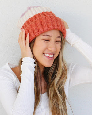 Walker Beanie in Rose