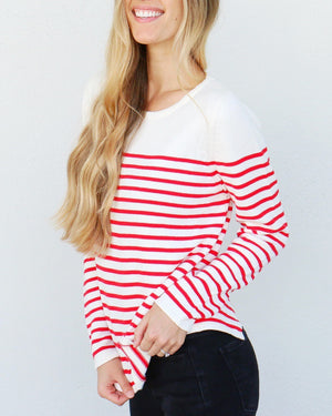 Cassia Sweater in Red