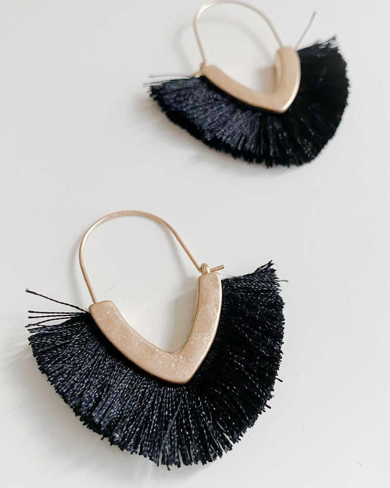 Minka Earrings in Black
