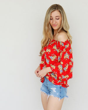 Lindy Top in Red