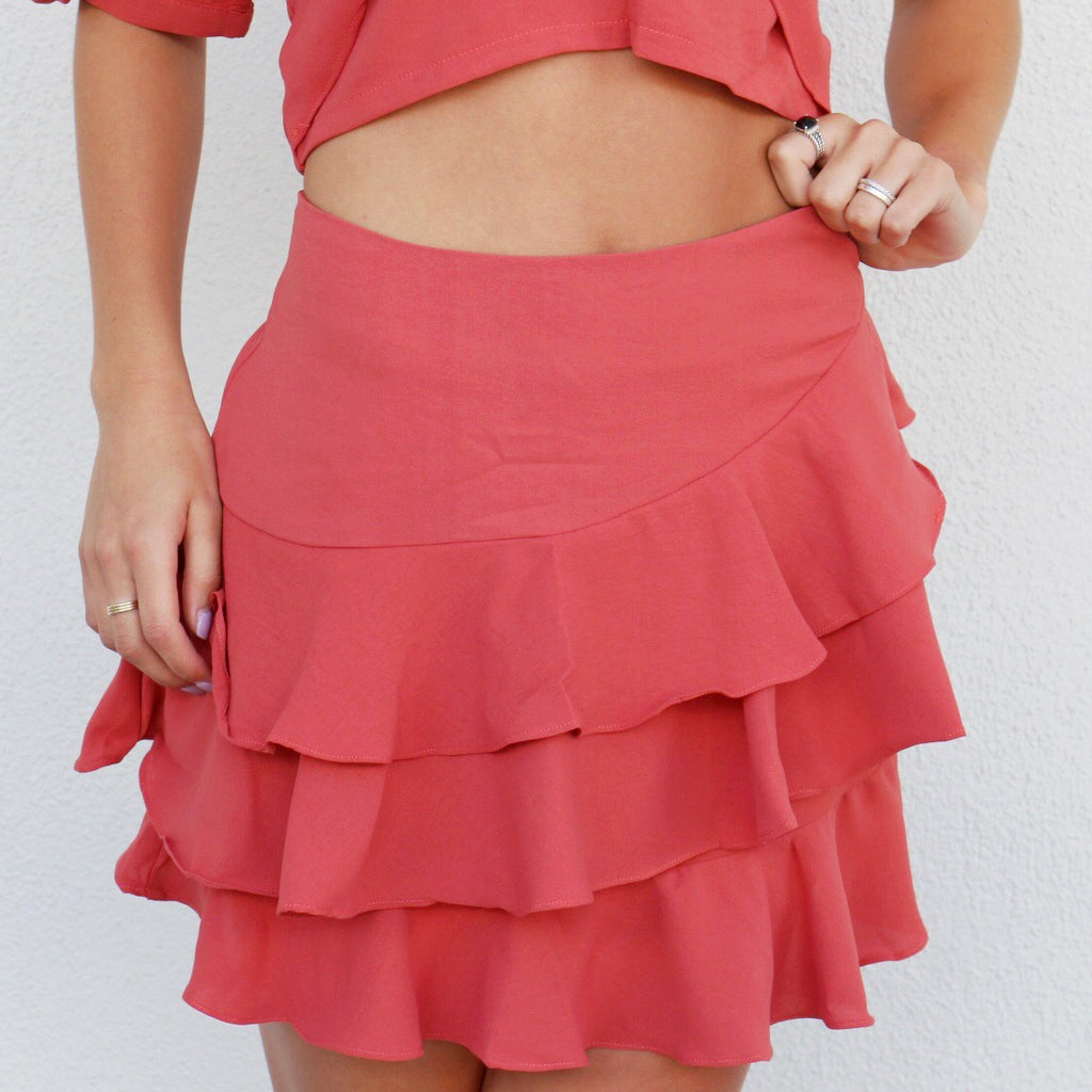 Sonora Skirt in Coral