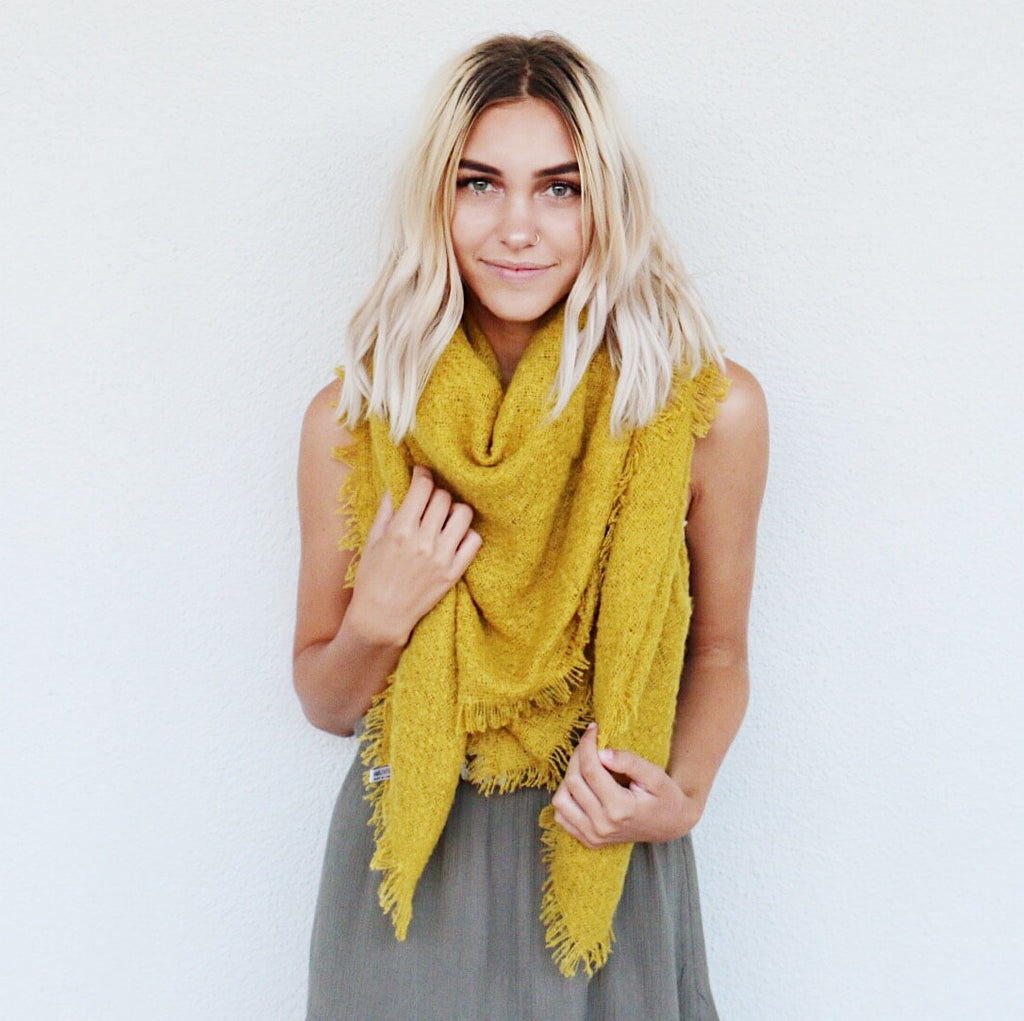 Fallbrook Scarf in Mustard