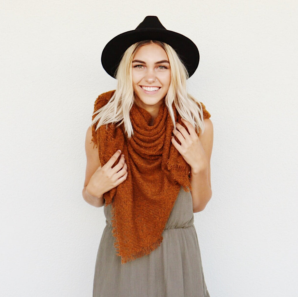 Fallbrook Scarf In Rust
