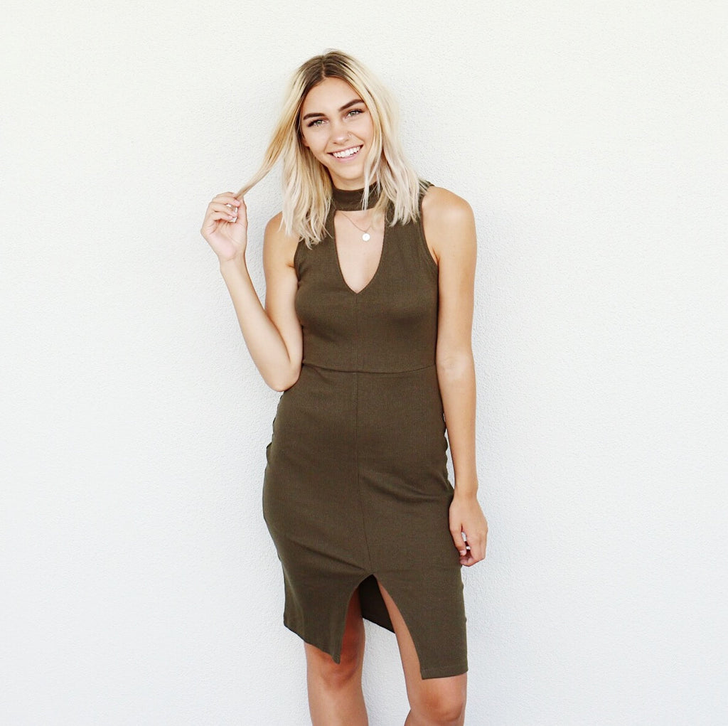 Brinley Dress In Olive
