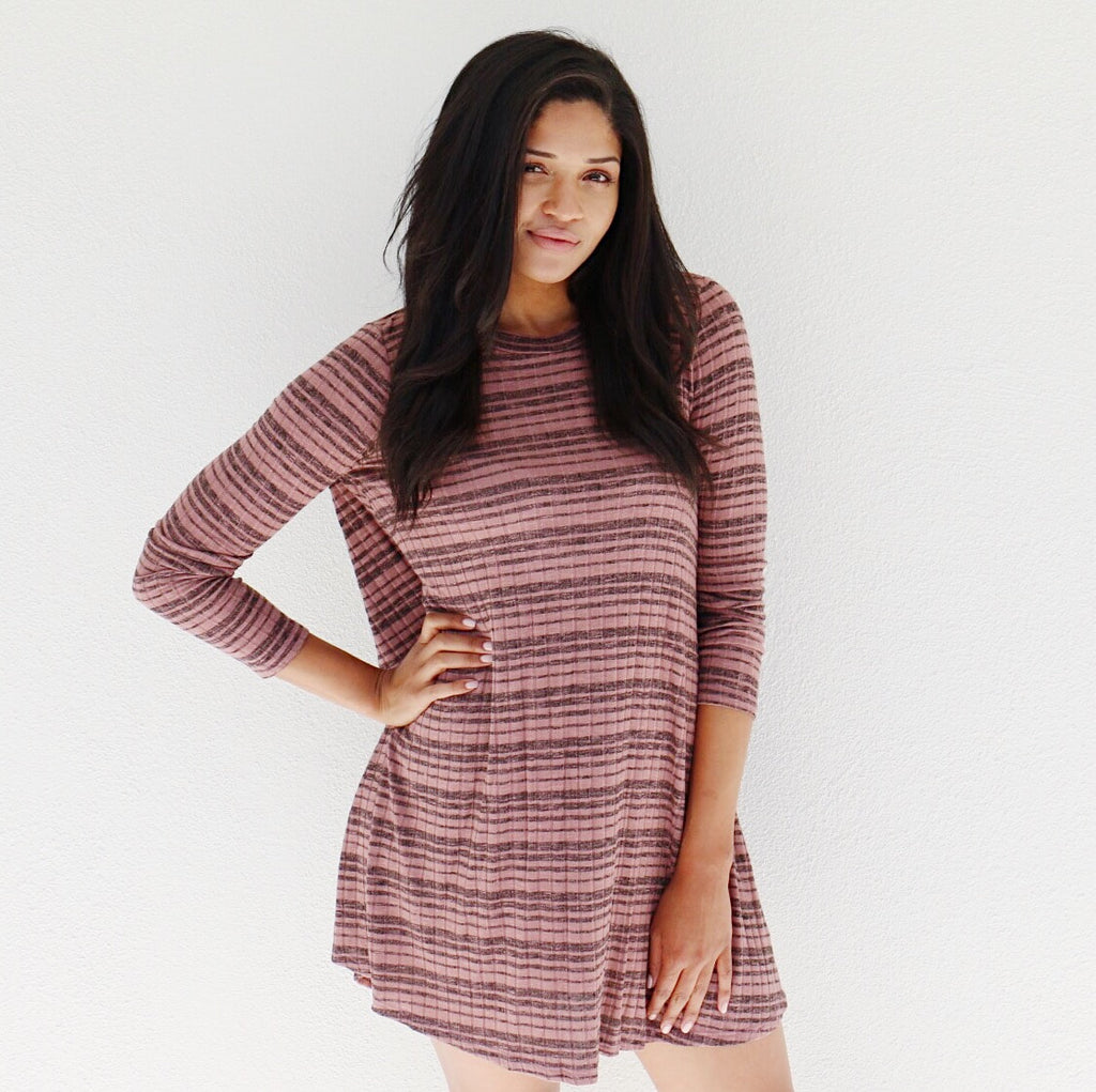 Westin Dress in Mauve