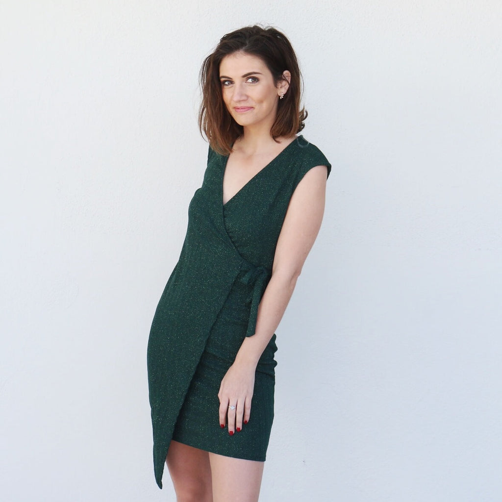 Tinsel Dress in Green