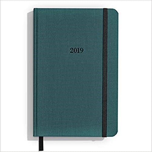 Shinola Planner: 2019, 12 Month, Hard Linen, Dark Teal (5.25x8.25)
