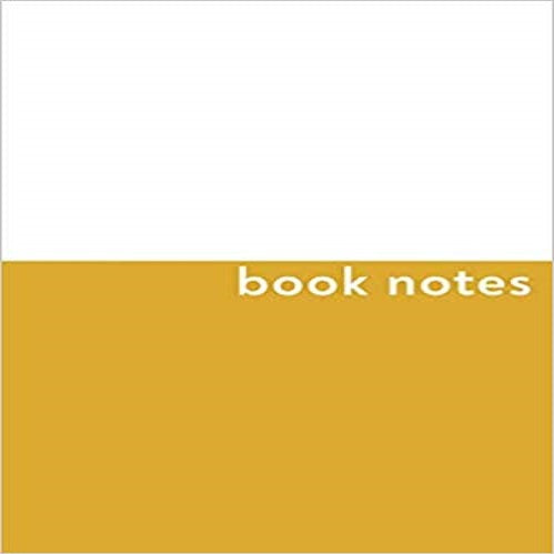 Book Notes:Cute Journal and Logbook for Book Lovers with Minimalist Yellow Cover Design