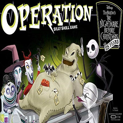 Christmas Operation Game.Operation The Nightmare Before Christmas 25 Years