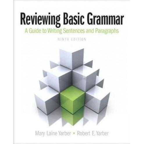 Reviewing Basic Grammar: A Guide to Writing Sentences and Paragraphs | ADLE International