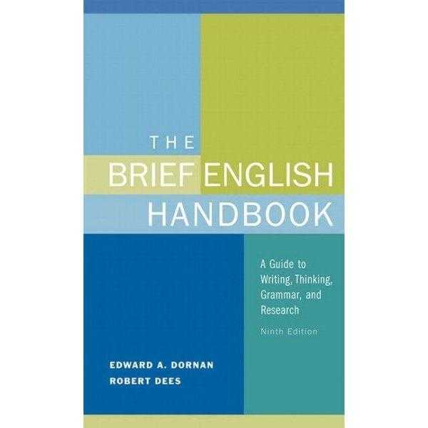 The Brief English Handbook: A Guide to Writing, Thinking, Grammer and Research | ADLE International
