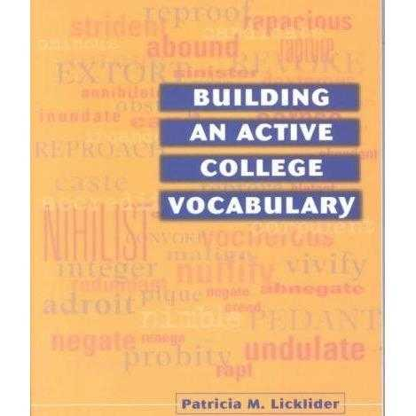 Building an Active College Vocabulary | ADLE International