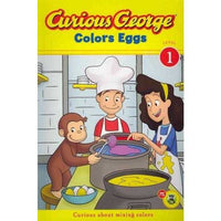 Curious George Colors Eggs (Curious George Early Readers)