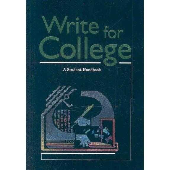 Write for College: A Student Handbook: Write for College | ADLE International