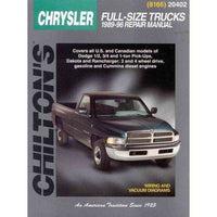 Chilton's Chrysler Full-Size Trucks, 1989-96 Repair Manual