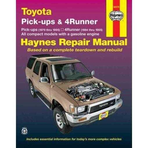 Toyota Pickups and 4-runner, 1979-1995 (Haynes Manuals) | ADLE International