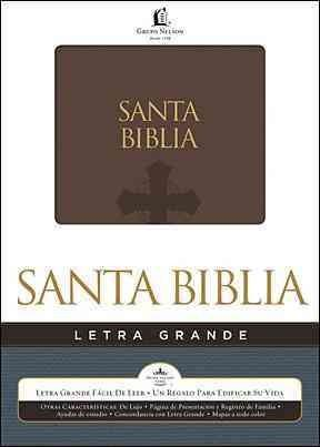 Biblia / Holy Bible (SPANISH): Reina-valera 1960, Letra Grande, Brown