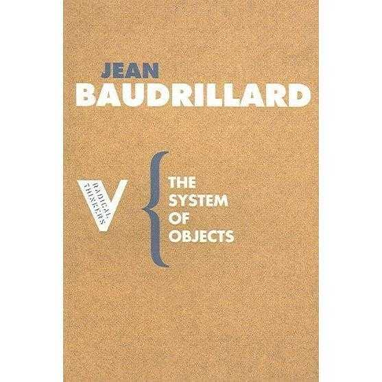 The System of Objects (FRENCH) (Radical Thinkers) | ADLE International