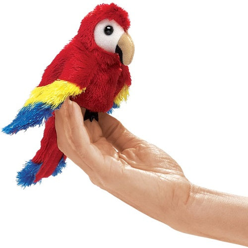 Mini Scarlet Macaw Finger Puppet