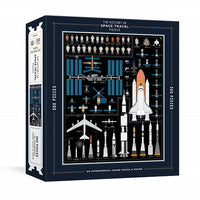 The History of Space Travel Puzzle: Astronomical 500-Piece Jigsaw Puzzle & Poster: Jigsaw Puzzles for Adults ( Pop Chart Lab )