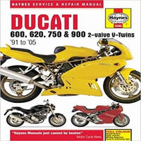Ducati 600, 620, 750 & 900 2-Valve V-Twins '91 to '05 ( Haynes Service & Repair Manual )