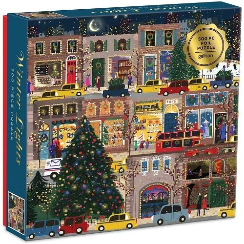 Winter Lights Foil Puzzle 500 PC Puzzle