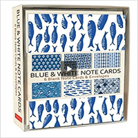 Blue & White Note Cards: 6 Blank Note Cards & Envelopes (4 X 6 Inch Cards in a Box)