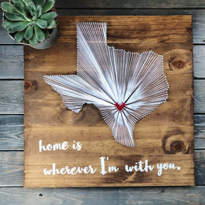 Home Is Wherever I'm With You: State String Art