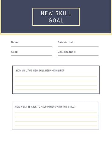 New Skill Worksheet |Daisy May & Me|