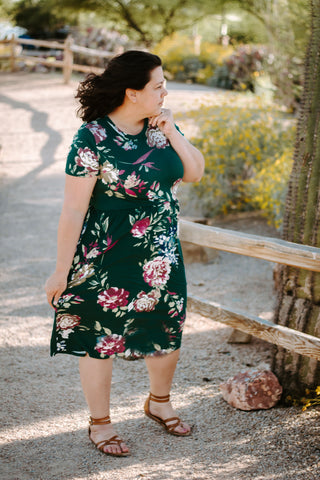 Wakefield floral dress in plus size |Daisy May & Me|