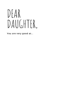 Dear Daughter Journal ,  |Daisy May and Me