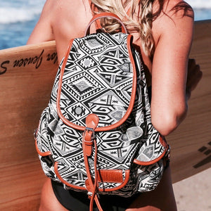 Bohemian Backpack- Black and White