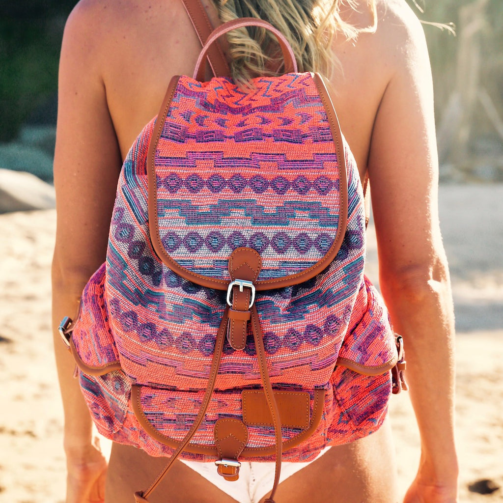 Bohemian Backpack- Sunset