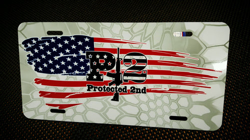 P2 American Flag Plate