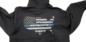 Just Protect It - Blue Line Hoodie