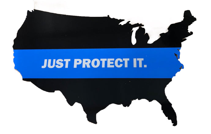 Just Protect It Blue Line - Decal