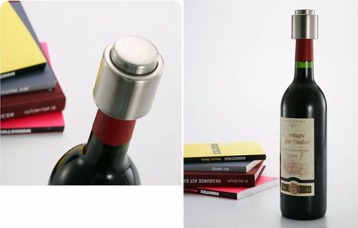 Stainless Steel  Wine Bottle Cap And Vacuum Sealer