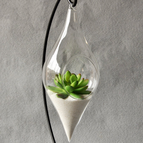 "Image of Hanging Glass Vase ""Infinity"""