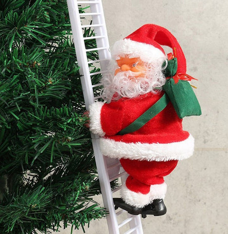 Santa Claus Climbing Ladder - With Movement & Music